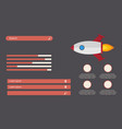 business infographic design start up with rocket vector image