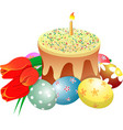 cake eggs tylips vector image