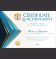 certificate or diploma design template 2 vector image vector image