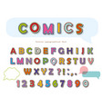 comic font design funny pop art letters vector image