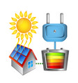 converting solar energy into electricity vector image vector image