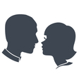 Couple face silhouette vector | Price: 1 Credit (USD $1)