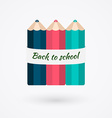 Creative template with color pencil banner can be vector image