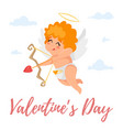 cute cupid in the sky vector image