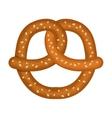 delicious pretzel design vector image