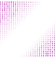 Dotted Pink Background Halftone Pattern vector image vector image