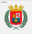 emblem las palmas city spain vector image vector image