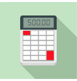 financial calculator icon flat style vector image