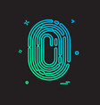 finger print icon design vector image
