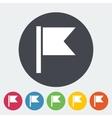 Flag single flat icon vector image vector image
