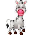 funny zebra cartoon vector image vector image