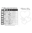 game zentangle elements valentine black vector image