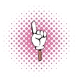 Hand gesture icon comics style vector image vector image