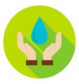 Hands Save the Planet Water Circle Icon vector image vector image