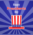 happy presidents day greeting card invitation or vector image vector image