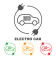icons of electric cars side view of the vector image vector image