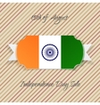 India Independence Day paper Emblem vector image