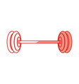 isolated gym weight vector image