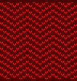 knitted red pattern vector image vector image