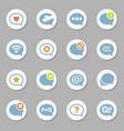 message bubble icons set vector image