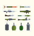 military weapons items for army heavy artillery vector image vector image