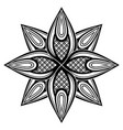 monochrome beautiful decorative ornate mandala vector image vector image