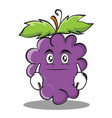 neutral grape character cartoon collection vector image vector image