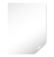 Page of white paper vector | Price: 1 Credit (USD $1)