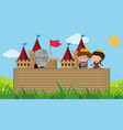 paper template with prince and princess in vector image vector image