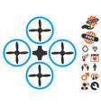 quadcopter icon with love bonus vector image vector image