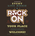rock music flyer live event poster vector image