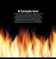 seamless background with flame vector image vector image