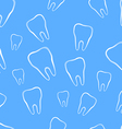 Seamless pattern with tooth vector image