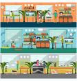 set pet shop concept posters in flat vector image vector image