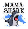 shark t shirt 002 vector image vector image