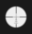 sniper sight with measurement marks vector image