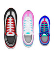 sport shoes realistic set vector image vector image