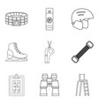 stadium icons set outline style vector image vector image