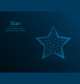 star symbol raiting polygon icon on blue vector image vector image