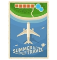 Summer Air Travel Retro Poster vector image vector image