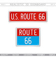 us route 66 creative 3d signboard vector image
