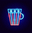 usa cup neon sign vector image