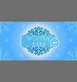 winter sale banner promotion design vector image