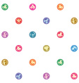 zodiac signs sparse pattern vector image vector image