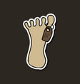 zombie foot cartoon vector image
