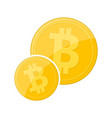 golden bitcoin currency vector image