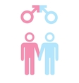 LGBT concept Icon of gay couple with male marker vector image