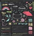 Vintage Chalkboard Design Elements Hand Drawn Set