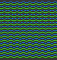 abstract green and blue waves seamless pattern vector image vector image