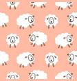 baby sheep girlish cute seamless pattern vector image vector image